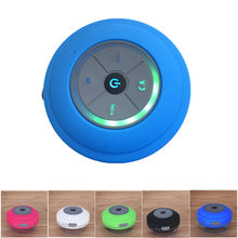 Q9 Draagbare Speaakers Subwoofer Douche Waterdichte Draadloze Bluetooth Speaker Car Handsfree Call Music Zuig Mic Speakers(China)