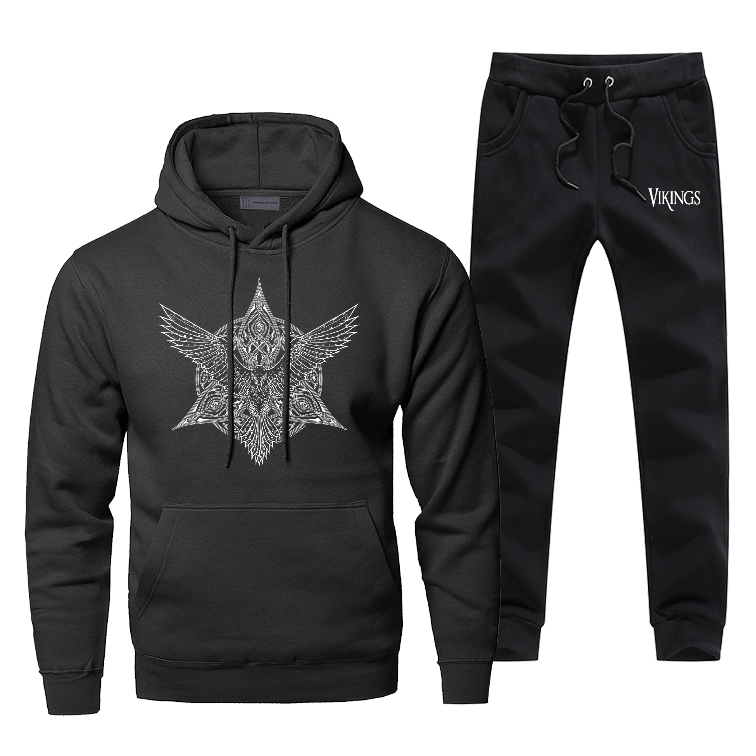 Odin Vikings Hoodie Pants Set Men Sweatshirt Viking Simbal Male Hoodies Sweatshirts Mens Sets Two Piece Pant Pullover Hoody Coat