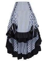 Gothic Ladies Dress Vintage Skirt High Low Steam Punk Women Drawstrings Skirt