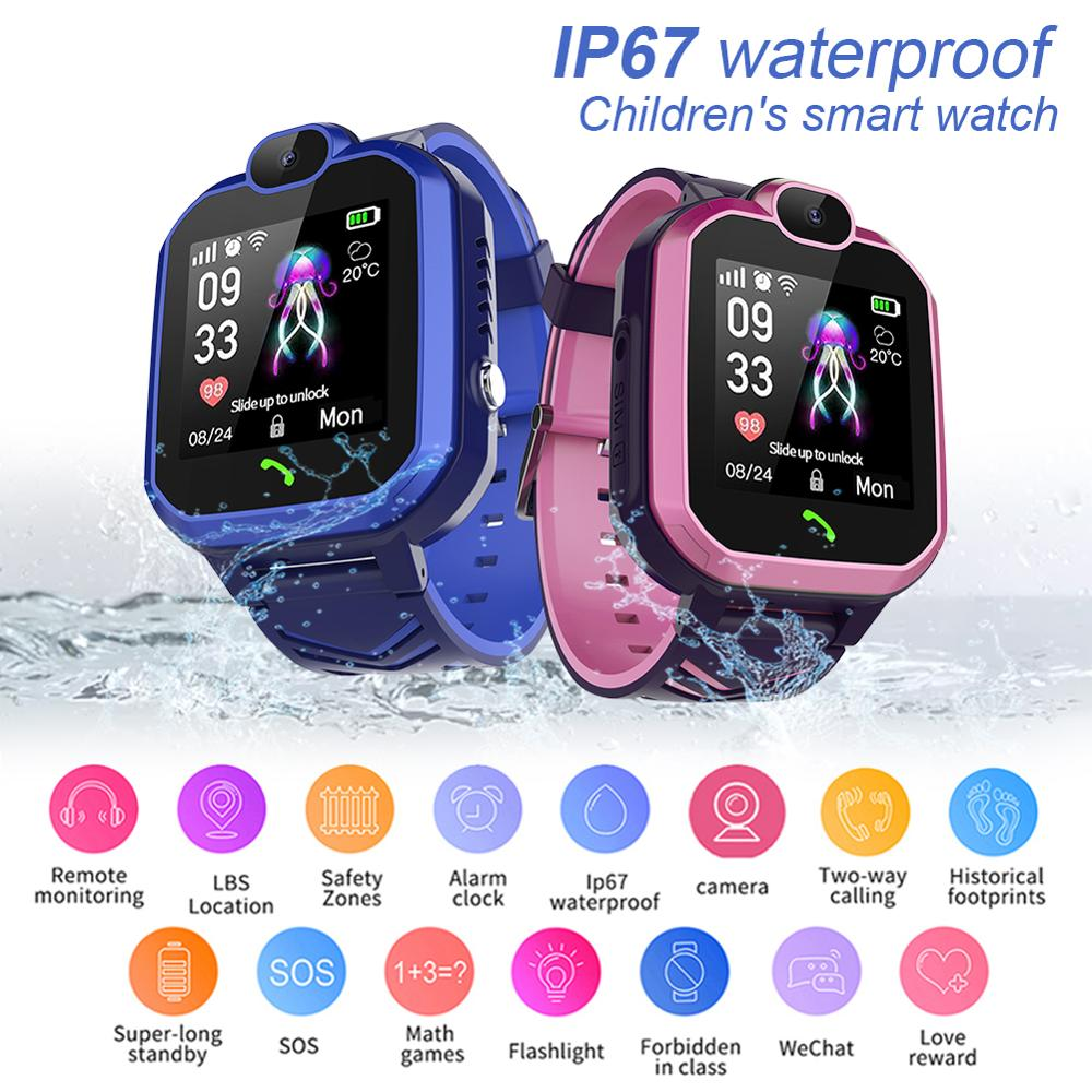 <font><b>R7</b></font> children waterproof phone <font><b>watch</b></font> <font><b>smart</b></font> phone positioning <font><b>watch</b></font> waterproof student Bluetooth music anti-lost weather reminder image