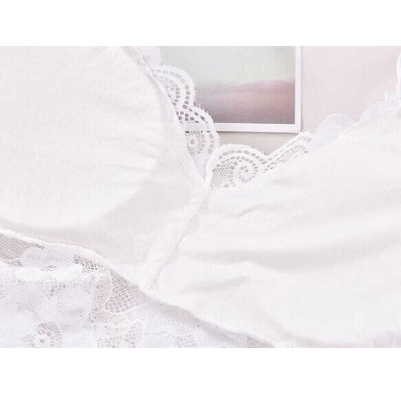 Meihuida 패션 여성 레이디 레이스 꽃 소프트 스트랩 브래지어 탑 튜브 가슴 랩 Bandeau 속옷 블랙 화이트