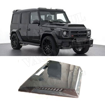 Carbon Fiber Front Engine Hood Vent Cover for Mercedes Benz G-CLASS W463 G500 G550 G55 G63 AMG 04- 17 Car Bonnet Cap Car Styling