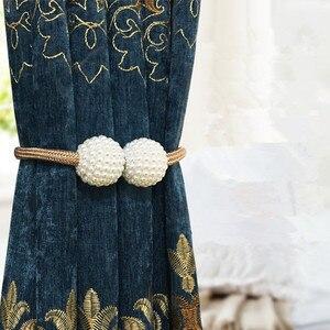 Image 3 - פרל מגנטי וילון Tieback חלון רצועת אבזם מחזיק קליפים תליית כדור וילון רצועות עיצוב הבית אבזרים