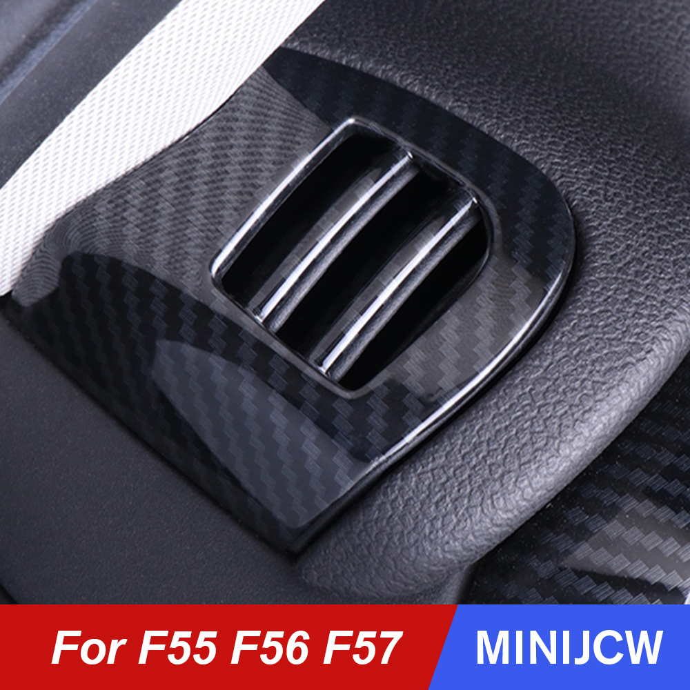 Car Air Vent Cover Outlet Shell Case Housing Carbon Fiber Sticker For Mini Cooper One S F55 F56 F57 Hatchback Refit Accessories