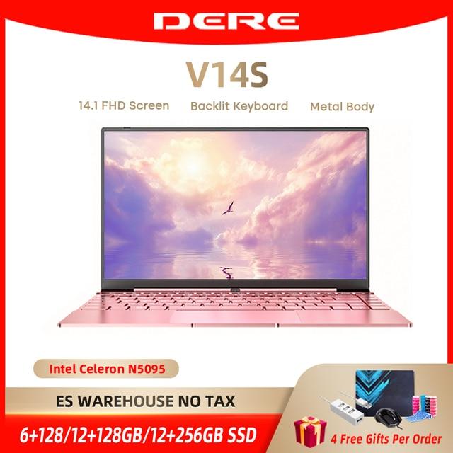 Dere V14S 14.1inch Laptop Intel Celeron N5095 DDR4 12GB RAM 512GB SSD Backlit Keyboard Windows 10 1920x1080 Computer PC Notebook 1