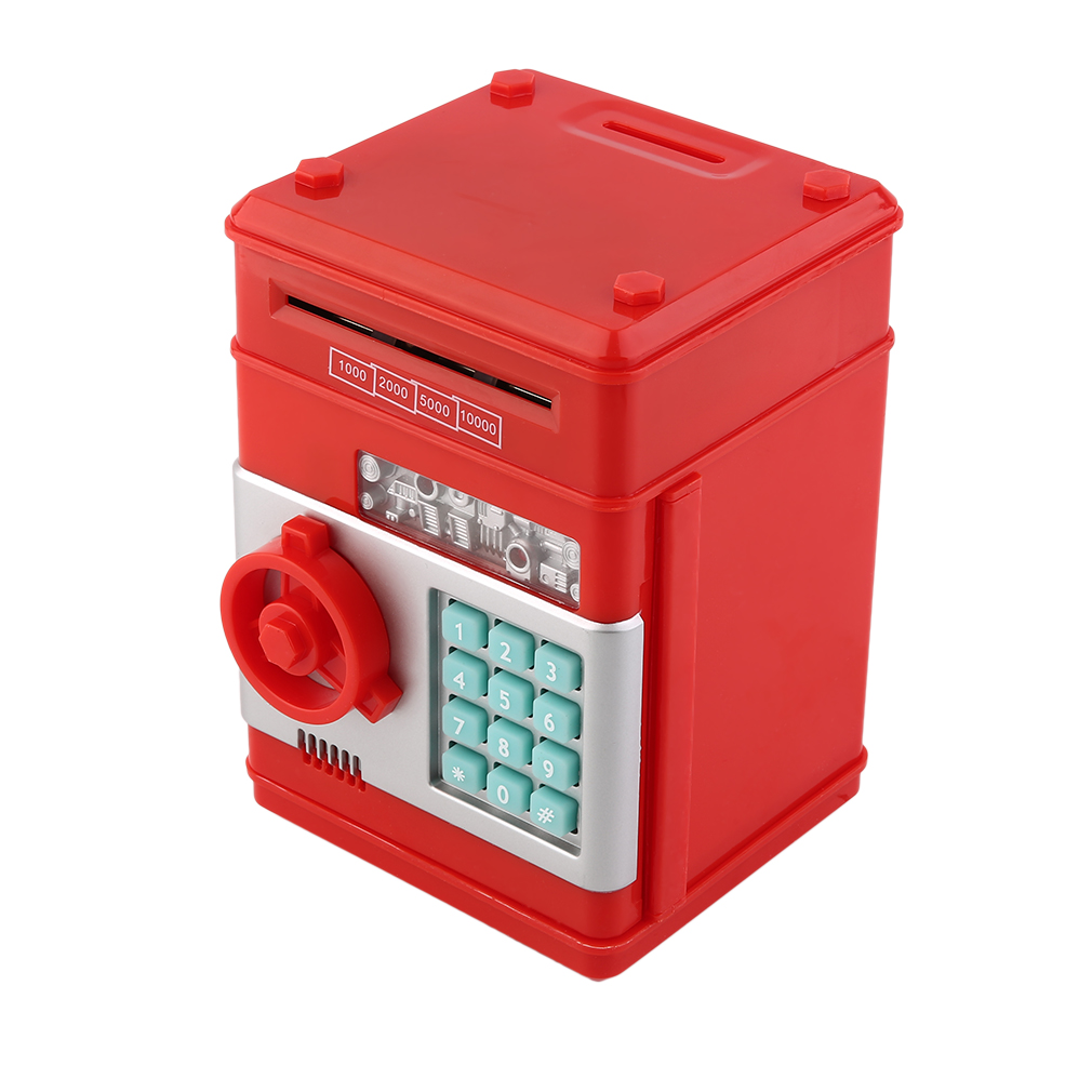 Electronic Money Safe Box Password Money Box Cash Coins Saving Box ATM Bank Safe Box Automatic Deposit Banknote Christmas Gifts