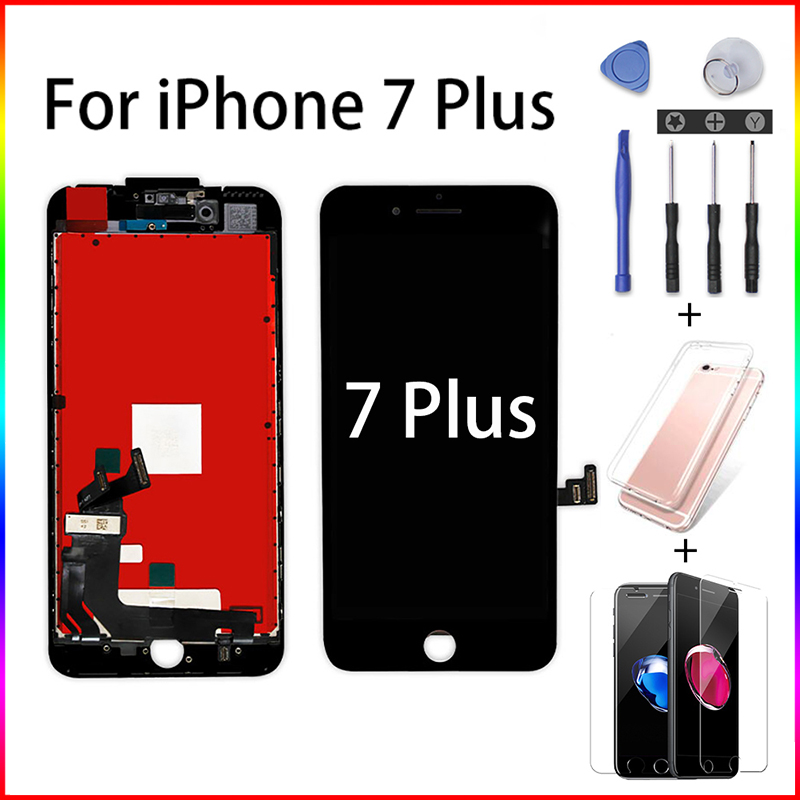 Mobile Phone Pantalla LCD Replacement For IPhone 7 Plus A1661 A1784 A1785 Ecran Screen Digitizer Assembly Display No Dead Pixel+