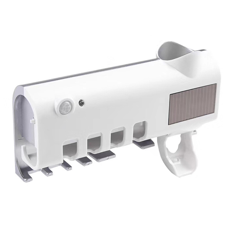 Solar UV Light Ultraviolet Toothbrush Sterilizer Automatic Toothpaste Dispenser Tooth Brush Holder Oral Hygiene Cleaner