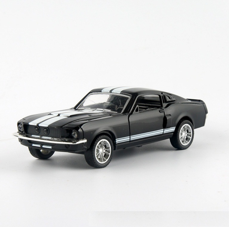 Hot Selling1: 32 Scale Ford Mustang GT 1967 GT500 Pull Back Alloy Car Toy Model Children's Toy Car Model Collection Gift Series