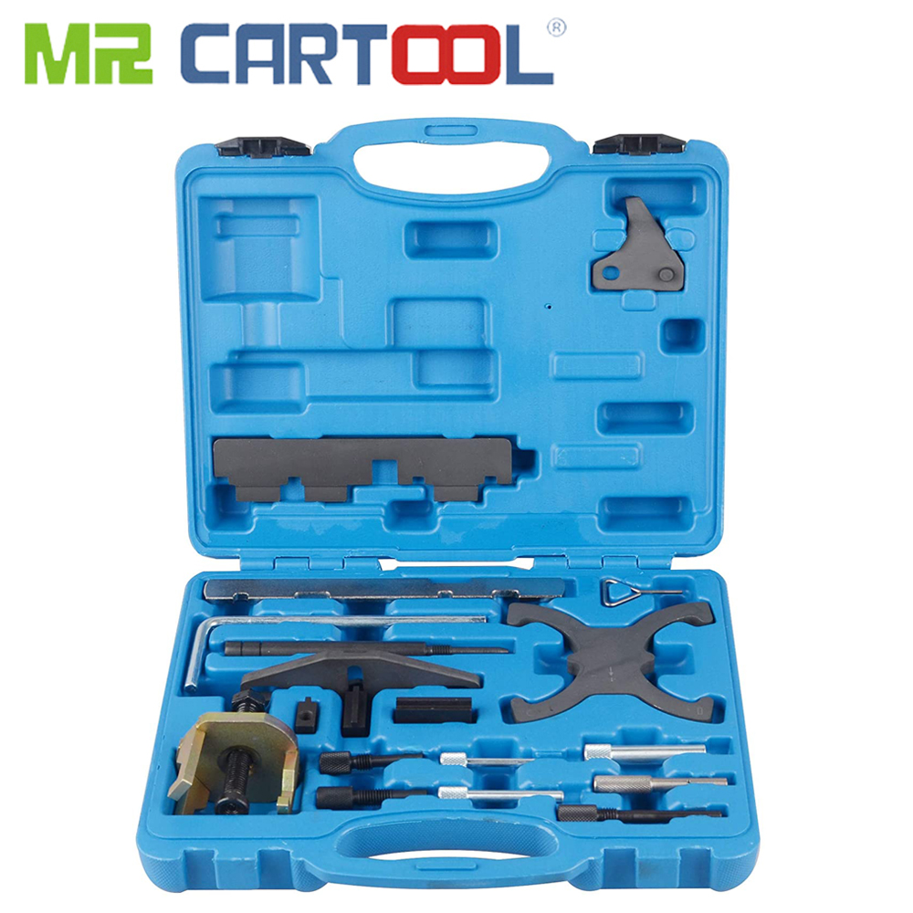 MR CARTOOL Engine Timing Camshaft Flywheel Locking Tool Kit Set For Ford Mazda 1.4 1.6 1.8 2.0 Di/TDCi/TDDi Kit