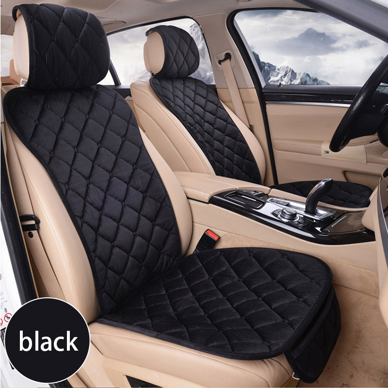 Warm Plush Car Seat Cover Cushion Mat Protection Pad Seat Cushion Pocket Winter