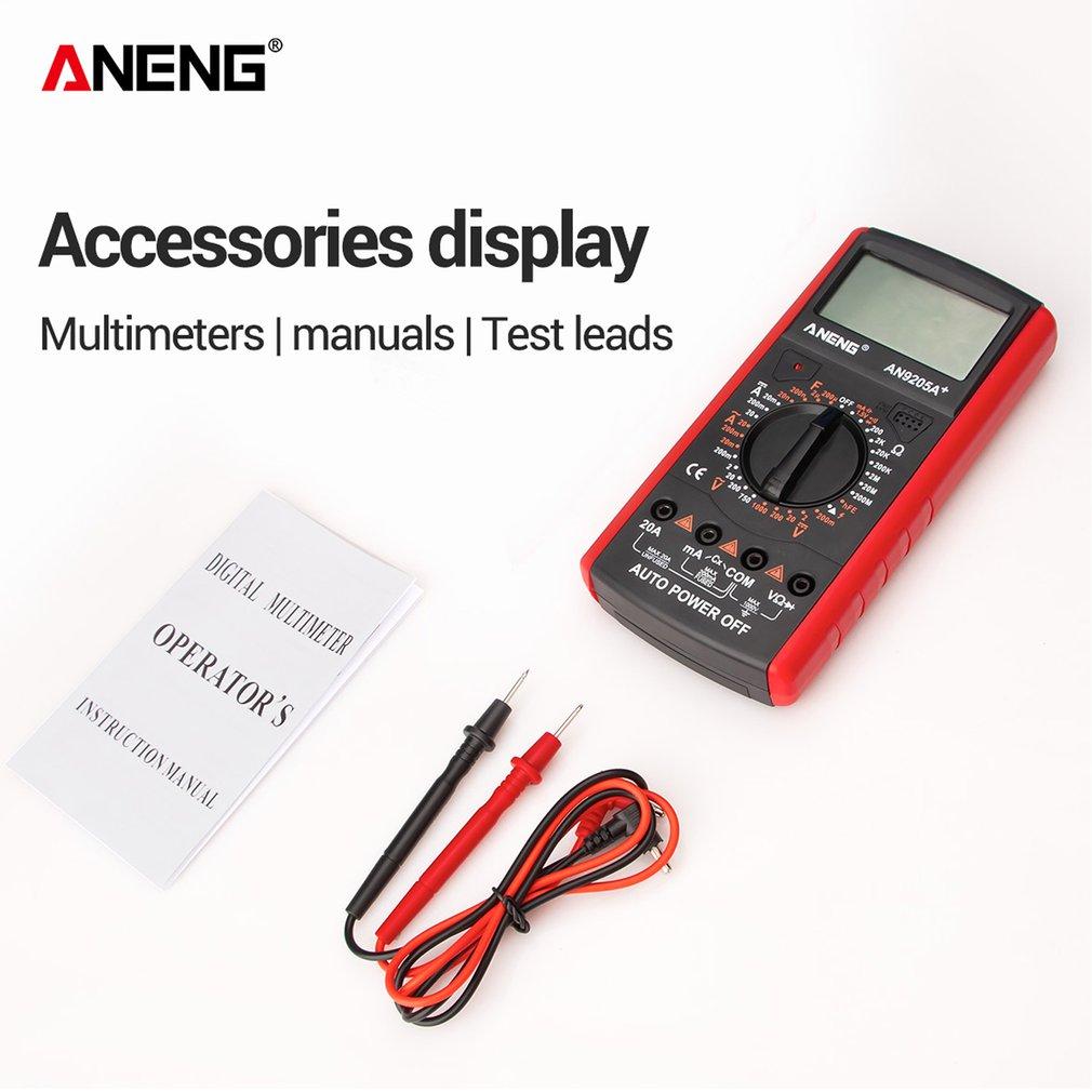 LCD Digital Multimeter Transistor Capacitor Tester Electrical Capacitance Meter