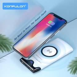 10000 mAh Power Bank Wireless Power Bank Fast Charging External Battery For Mobile Phone Wireless Charging 10000mAh For iPhone12