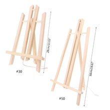 Wood Easel Advertisement Exhibition Display Shelf Holder Painting Stand W8ED