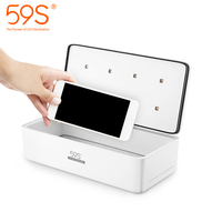 UV Light Sanitizer Sterilizer Box for Face Masks Smartphone Beauty Tools Kills 99.9% of Germs AntiBacteria with 8 LEDs 59S S2
