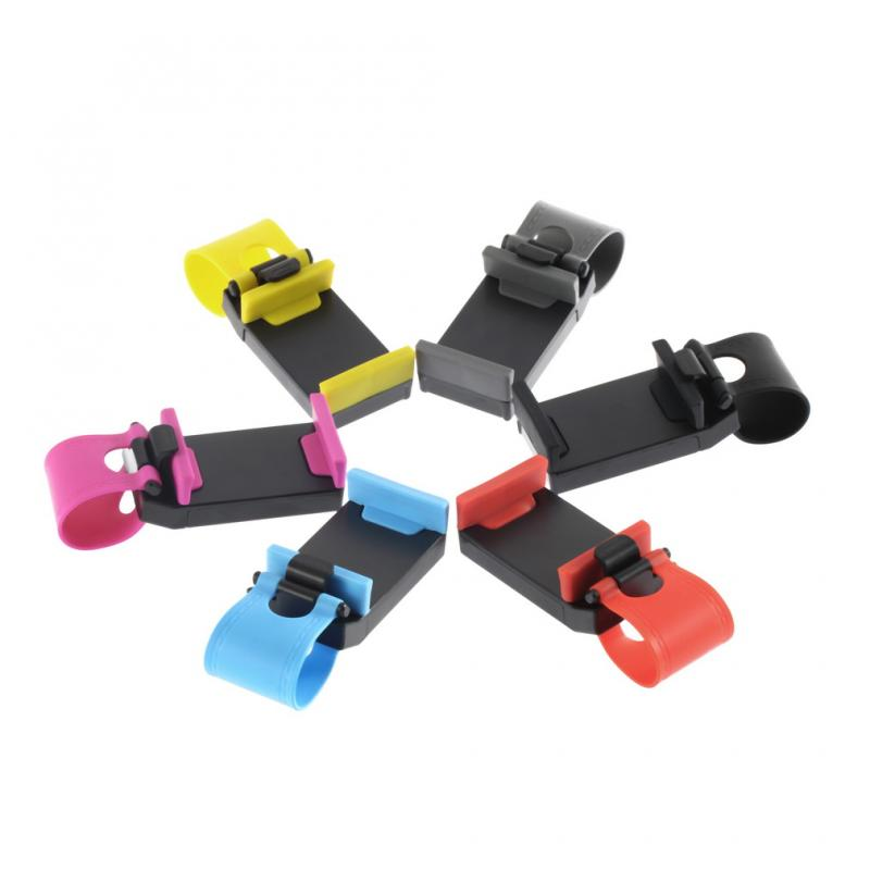 Car Steering Wheel Phone Holder Universal GPS Bike Clip Mount Holder Bike Stand Anti-shock Bicycle Mount Accessories
