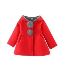 Популярное хлопковое пальто для девочек на весну, осень и зиму хлопковый плащ с заячьими ушками длинное пальто с капюшоном