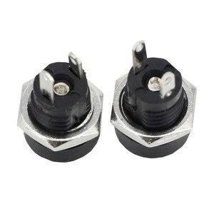 Image 3 - 10 Pcs 3A 12V Voor Dc Voeding Jack Socket Female Panel Mount Connector 5.5 Mm 2.1 Mm Plug adapter 2 Terminal Types 5.5*2.1