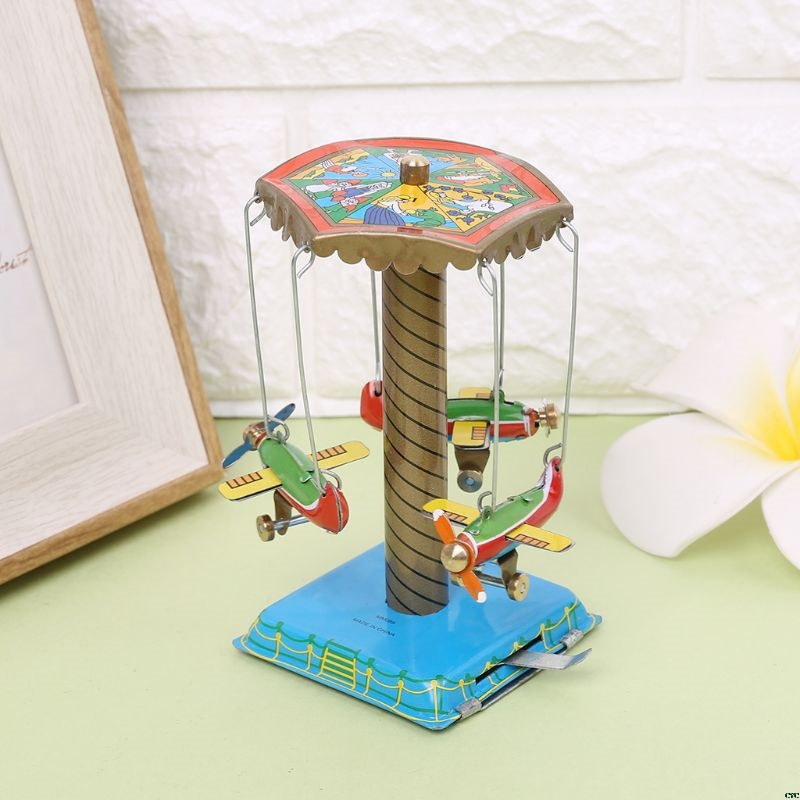 Collection-Toy Rotating-Airplane Vintage-Toys Metal Kids Play Memorial Gifts Funny 1set