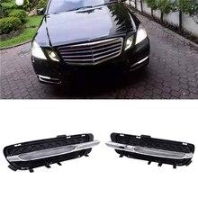 цена на JIUWAN Car LED Daytime Running Lights DRL Fog Light Fit for Mercedes-Benz W212 E250 E300 E350 2009-2013 2128851574 2128851674
