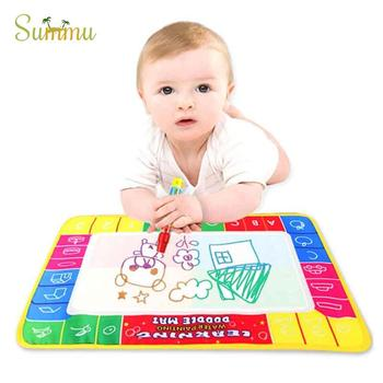 Water Drawing Writing Toys Doodle Mat Non-toxic Magic Drawing Board Water Drawing Pen For Kids Gifts Painting Writing Toys kid water drawing mat doodle board
