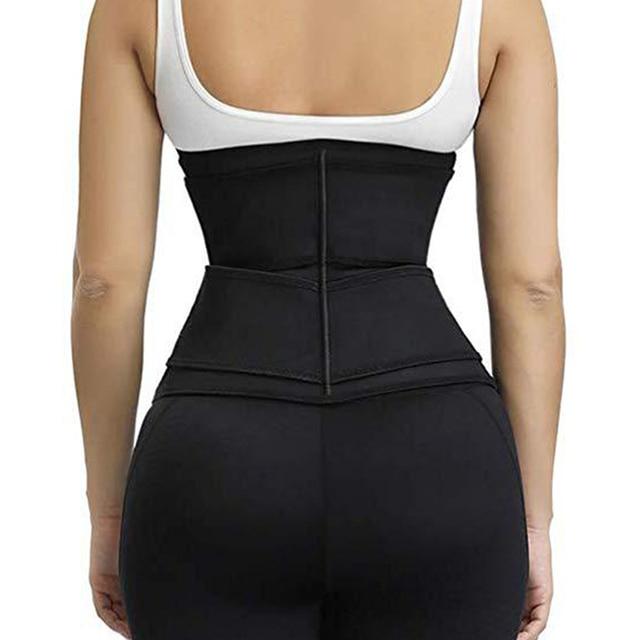 Hot Fitness Women Waist Trainer Sweat Belt Waist Trimmer Slimming Tummy Control Girdle Weight loss Support Belt For Men Women 4