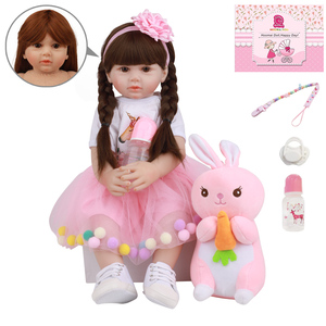 Fashion Real Bebe Reborn Girl Doll 24'' Silicone Soft Cotton Body 60 CM Lovely Reborn Princess Baby Dolls For Children Gifts(China)