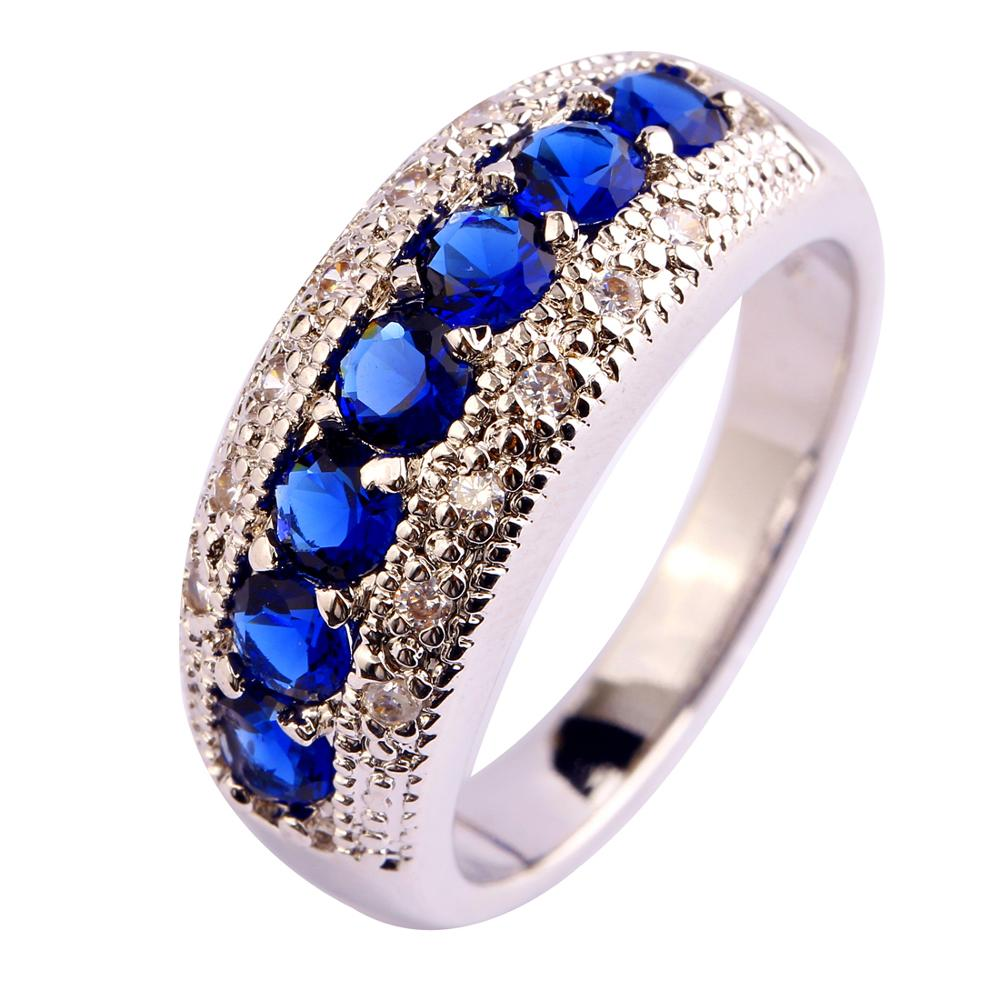 Generous Fashion Lady Pink Cubic Zircon Tourmaline Silver Ring Size 6 7 8 9 10 11 12 13 Romantic Jewelry 1