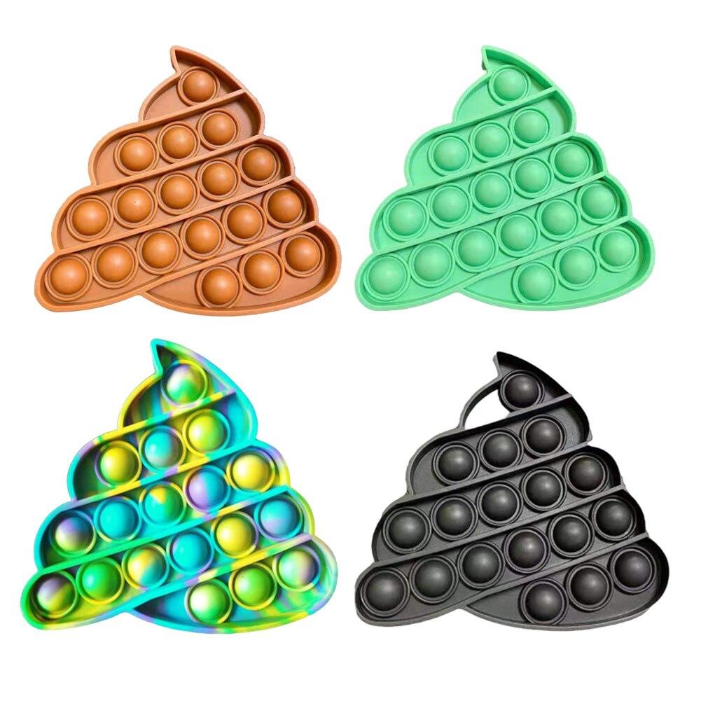 Популярная пузырьковая игрушка Pop It для взрослых, игрушка для снятия стресса, антистресс, попит, мягкая сжимаемая игрушка, антистрессовая по...