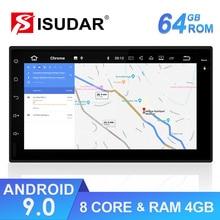 Isudar 2 DIN Tự Động Phát Thanh Android 9 Dành Cho Xe Nissan/Xtrail/Tiida/Hyundai/Kia Đa Năng RAM 4GB Đa Phương Tiện Video GPS DVR FM