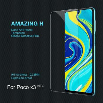 For POCO X3 NFC Screen Protector POCO X3 NFC Tempered Glass NILLKIN Amazing 9H Nanometer Super Clear HD Protective Glass