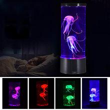 Lámpara LED de Lava de Medusa para acuario, luz de noche de dormitorio colorida para decoración del hogar, triangulación de envíos
