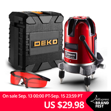 DEKO Laser-Level Horizontal Vertical Adjustment 5-Line 360-Degree 6-Points Ll5-Series