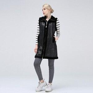 Image 1 - Vestes cisaillées pour femmes vestes pour femmes garder au chaud gilet en peau de mouton naturel à la mode pour les femmes