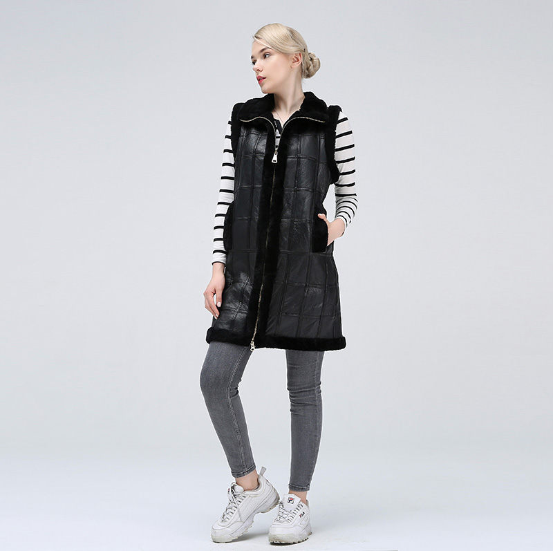 Women's sheared jackets women's jackets keep warm fashionable natural sheepskin vest for women-in Real Fur from Women's Clothing