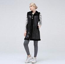 여성용 sheared jackets 여성용 자켓은 여성을위한 따뜻한 유행 천연 양모 조끼를 유지합니다.