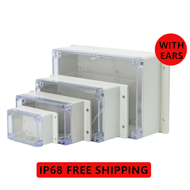 IP68 Plastic Transparent Box Waterproof Enclosure Electronic Project Outdoor Instrument Electrical Project Box Junction Housing