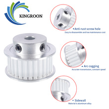 KINGROON GT3 Timing Pulley 30 Tooth 3GT Pulley Wheel Bore 5mm 6.35mm 8mm Aluminium Gear Belt Width 10mm 3D Printer Part