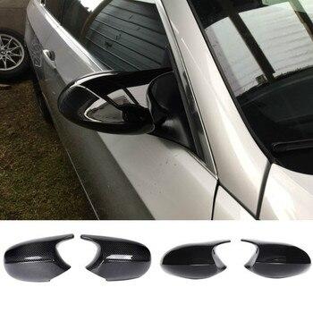 M3 Style 2x Mirror Cover E90 Car Rearview Mirror Cover Cap For BMW E90 E91 PRE-LCI 2005-2007 E92 E93 2006-2009 E80 E81 E87 for bmw m1 e82 m3 e90 e92 e93 2008 2013 add on style carbon fiber body side rear view mirror cover