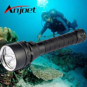 IPX8 водонепроницаемый профессиональный мощный супер яркий светодиодный фонарик для дайвинга с аквалангом, светильник светодиодный подводн...