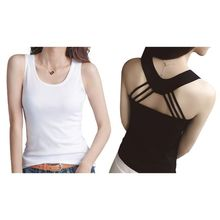 Womens Summer Milk Fiber Basic Tank Top Sexy Hollow Out Cross Strappy Backless Camisole Casual Solid Color Slim Fit Vest Shirt