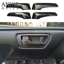 Copertura della maniglia aperta della porta interna di colore della fibra del carbonio 4pcs adatta per Toyota Camry 2012 2013 2014 2015 2016 2017