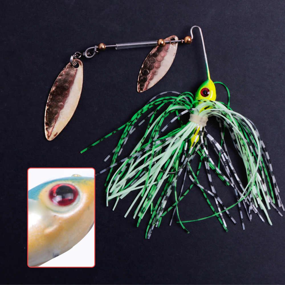 1個スピナー餌10グラム16グラムメタルルアーハードルアースピナールアースピナーベイトパイク旋回タックルワブラー魚アクセサリー