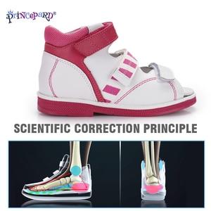 Image 3 - Princepardガールズサンダルキッズ整形外科革の靴甘いプリンセスピンクとブルー矯正sandalas男の子の女の子のため