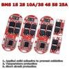 Bms 1s 2s 10a 3s 4S 5S 25a Bms 18650 ליתיום Lipo ליתיום סוללה הגנת מעגלים מודול Pcb Pcm 18650 Lipo Bms מטען