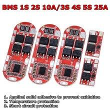 Bms 1s 2 10a 3s 4S 5S 25a bms 18650 li-ion lipo bateria de lítio proteção módulo pcb pcm 18650 lipo bms carregador