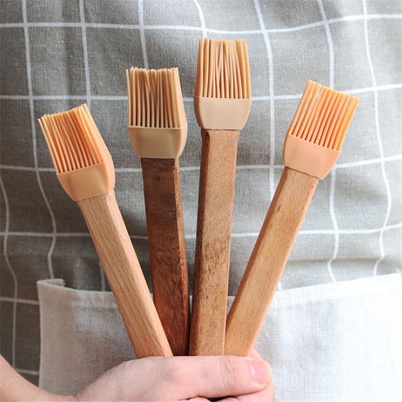 Bristles Wooden Baking Cream BBQ Oil Brush Bakeware Pastry Cooking Gadget Tool