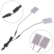 1Set Portable DIY USB Heating Heater Winter Warmer Plate for Pad Shoes Gloves