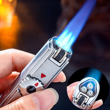 Jobon Triple Torch Lighter Windproof Powerful Jet Gas Cigar Turbo Metal Kitchen BBQ Spray Gun Outdoor Gadgets Man