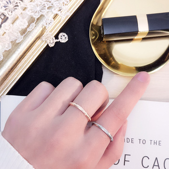 Rose Gold Color Frosted Finger Ring for Woman Man Wedding Jewelry 316L Stainless Steel Top Quality Never Fade 5